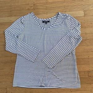 Ellen Tracy Stripe long sleeve stretch T-shirt XL